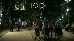 Tel Aviv white night street wide 2 Stock Footage