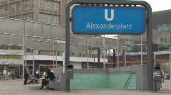Alexander Platz in Berlin 2 Stock Footage