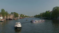 Amsterdam canals 13 Stock Footage