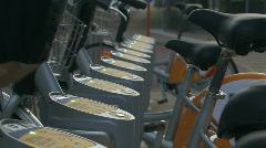 Bikes for rent 3 Stock Footage
