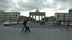 Brandenburg Gate in Berlin 2 - stock footage