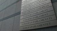 European Parliament in Brussels 4 Stock Footage