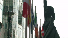 European Parliament in Brussels 1 - stock footage