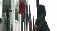 European Parliament in Brussels 1 Stock Footage