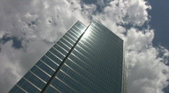 Stock Video Footage of Skyscraper. Timelapse clouds.