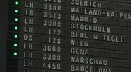 Stock Video Footage of Airport departure timetable 5