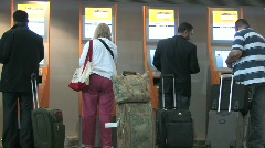 Self check-in at the airport Stock Footage
