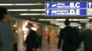 Stock Video Footage of Passengers at the airport - blurred 1