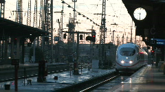 Intercity train arriving Stock Footage