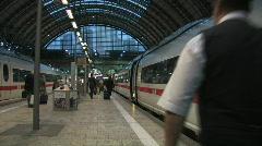 Train crew off work Stock Footage