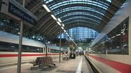 Frankfurt main train station 1 Stock Footage