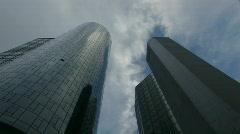 Frankfurt view 11 - skyscrapers Stock Footage