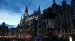 Grand Place in Brussels 11 - stock footage