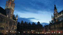 Grand Place in Brussels 13 - stock footage