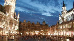 Grand Place in Brussels - timelapse 2 - stock footage