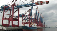 Harbour cranes 14 Stock Footage