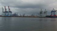Harbour cranes 11 Stock Footage