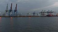 Harbour cranes 7 Stock Footage