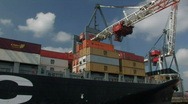 Harbour cranes and containers 2 Stock Footage