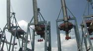 Harbour cranes 3 Stock Footage