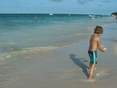 Stock Video Footage of boy playing in the surf
