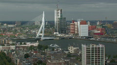 Rotterdam skyline 6 Stock Footage