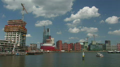 Rotterdam skyline 1 Stock Footage
