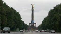 Siegessaule - Victory Column - in Berlin Stock Footage
