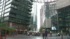Sony Centre at Potsdamer Platz in Berlin 7 Stock Footage