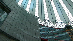 Sony Centre at Potsdamer Platz in Berlin 3 Stock Footage