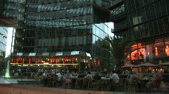 Sony Centre at Potsdamer Platz in Berlin 2 Stock Footage