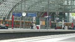 Trains at Berlin Central Station Stock Footage