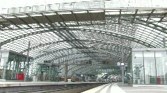 Train at Berlin Central Station 9 Stock Footage