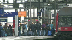 Passengers at Berlin Central Station 1 Stock Footage