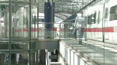Train at Berlin Central Station 5 Stock Footage
