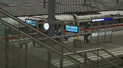 Train at Berlin Central Station 2 Stock Footage