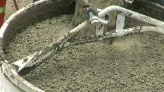Fresh Cement For Large Downtown Construction Worksite  Stock Footage