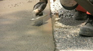 Stock Video Footage of Finishing A Sidewalk (HD 1080p30)