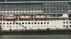 Off Loading Garbage From Cruise Ship (HD 1080p30) Stock Footage