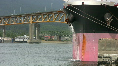 Ship Purging Water (HD 1080p30) Stock Footage