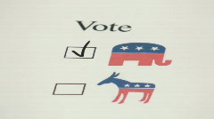 Vote REPUBLICAN V2 - HD  Stock Footage