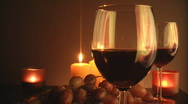 Stock Video Footage of Wine glass and candles 3