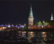 Moscow,view of Kremlin  3 Stock Footage