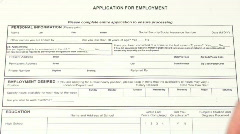 Filling out job application form V2- HD  Stock Footage