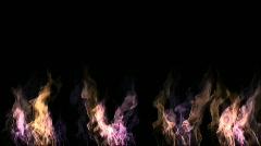 Gass fire Stock Footage