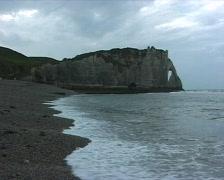 Etretat beach Stock Footage