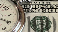 Stock Video Footage of Time is money hundred dollar bill - HD