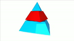 Three pieces pyramid Stock Footage
