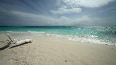 Chair tropical beach Stock Footage