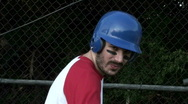 Baseball player batting cage V2- HD  Stock Footage